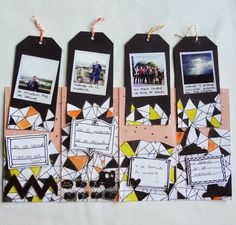 Mini de tags #scrapbooking #tutorial #MSP #madscraproject #tags
