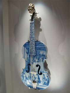 Delft Violin    An example of the Delftware on display at the Rijksmuseum in Amsterdam