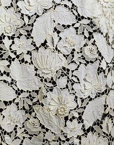 Whitework and needlelace. Blouse, detail, by Balenciaga (1895-1972). France, 1966.