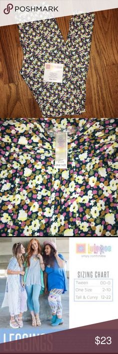 LuLaRoe One Size Leggings NWT LuLaRoe One Size Leggings NWT - Beautiful flowered leggings with shades of dark green, light green, pink, yellow and white!! These will match many things!!  Super soft and warm!! LuLaRoe Pants Leggings
