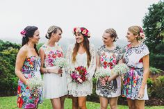 Bridesmaids dresses don't necessarily need to be the same!