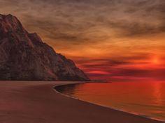 Sunset red.