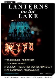 ab heute in Deutschland unterwegs: Lanterns On The Lake! Auftakt ist in der Prinzenbar in Hamburg. Alle weiteren Daten im Beitrag!  #tour #musik #music #konzert #hamburg #folk #indie