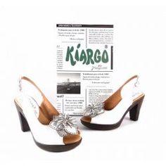 Zapatos Kiargo en piel tipo peep toe blancos Espectaculares 4928b317c6bb