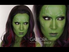 Gamora Guardians of the Galaxy MakeUp | Shonagh Scott | Gamora Halloween Cosplay - YouTube