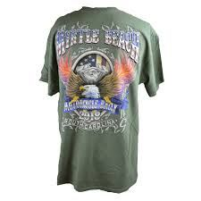b02dc125 2018 Official Myrtle Beach Bike Week Eagle T-Shirt Green