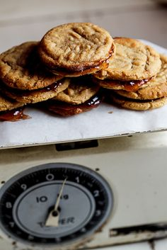PB cookie sandwiches. Brandon just informed me that I have to make them right now. So off to the kitchen I go lol sn: 180C is 350F