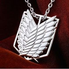 I WANT IT. Anime Attack on Titan Scouting Legion 925 Silver Necklace Pendant