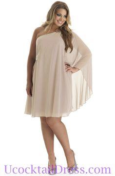 Plus+Size+Cocktail+Dresses | ... Ruched Elegant Short Formal Champagne Plus Size Cocktail Dress