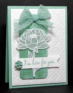 Calla Lily Card Using Stampin Up Remarkable You Stamp