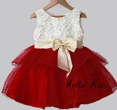 Ruby Red Dress party christmas girls babies occasion outfit