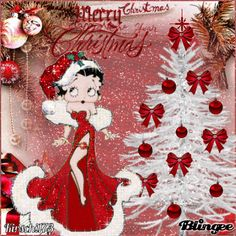 Rot Weiß Weihnachten Christmas Fairy, Christmas Pictures, Christmas Time, Merry Christmas, Vintage Christmas, Imagenes Betty Boop, Betty Boop Birthday, Animiertes Gif, Boop Gif
