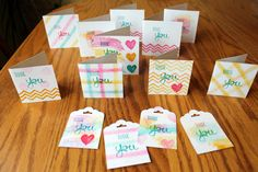 Work of Art Thank You cards 3, 2, 1