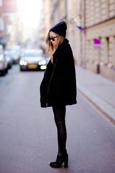 Leather skinnies + Booties