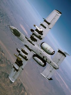 A-10 Warthog, the first, middle, and last name in fixed-wing Close Air Support. With a loiter time that the bad guys hate, it can put warheads on foreheads all day long.