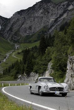 Classic Car Rally in Lech am Arlberg, Vorarlberg, Austria