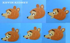 How to make a bear talk. Simple paper animation technique that looks great onscreen.   #KevinKidney #StopMotion #Animation #MoonlightStorytime #CuriousWorld #BixPix #HMH