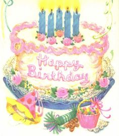 Retro Birthday Clip Art vintage paper products on pinterest vintage ...