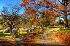 Graveyard in the Fall.
