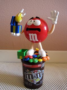 M M's M M Brand New Big Huge Lot of 5 Dispenser Cup with Chocolate Candy Mars   eBay