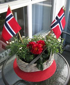 Happy Constitution Day, Norway! GRATULERER MED DAGEN! Constitution Day, Norway, Table Decorations, Happy, Furniture, Home Decor, Decoration Home, Room Decor, Home Furniture
