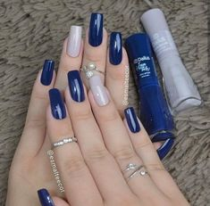 Semi-permanent varnish, false nails, patches: which manicure to choose? - My Nails Stylish Nails, Trendy Nails, Perfect Nails, Gorgeous Nails, Dodger Nails, Hair And Nails, My Nails, Nail Manicure, Nail Polish