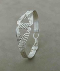 Sterling Silver wire wrapped Bracelet in Nefertiti design, Wire Wrapped Jewelry Handmade