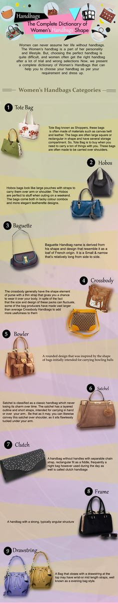 The Complete Dictionary of Women s Handbags Shape Young Fashion, Love  Fashion, Handbags Online, 633f556807