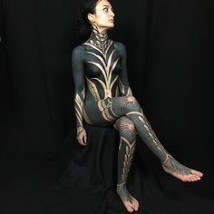 Blackwork bodysuit made by - for searchable tattoo inspiration . Black Tattoo Art, Black Ink Tattoos, Leg Tattoos, Body Art Tattoos, Girl Tattoos, Tatoos, Inspiration Tattoos, Tattoo Life, Blackwork