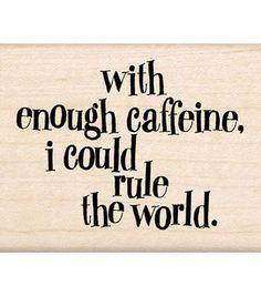 Inkadinkado Enough Caffeine Stamp Hear me roar!