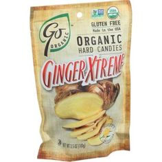 Go Organic Hard Candy - Ginger Xtreme - 3.5 oz - Case of 6