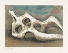 Henry Moore OM, CH 'Reclining Figure: Bone', published 1984 © The Henry Moore Foundation. All Rights Reserved Sculpture Clay, Abstract Sculpture, Metal Sculptures, Bronze Sculpture, Sculpture Rodin, Geometric Sculpture, Action Painting, Painting & Drawing, Henry Moore Reclining Figure