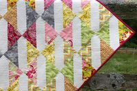Fat Quarter Gang - Baby Bows Quilt tutorial by Made During Quiet Time - Art Gallery Fabrics - The Creative Blog