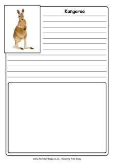 Oodles of free printable Australian Animal Notebooking Pages