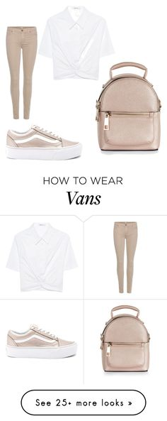 """Untitled #7476"" by bellagioia on Polyvore featuring Vans, 7 For All Mankind, T By Alexander Wang and New Look"