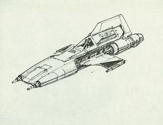 """"""" """"As you know, Ralph McQuarrie also did concept art for the original Star Wars trilogy. Above: Colonial Viper concept art for the original Battlestar Galactica series. Star Wars Rpg, Star Wars Ships, Star Trek, Ralph Mcquarrie, V Wings, Mad Movies, Star Wars Vehicles, Star Wars Concept Art, Concept Ships"""