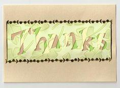 Thanks  - iris folded handmade card