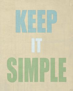 Keep It Simple Typography Art Print Wall decor wall door HoneyBoo