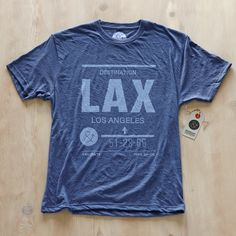 Los Angeles LAX T-Shirt Men's  by Pilot & Captain.
