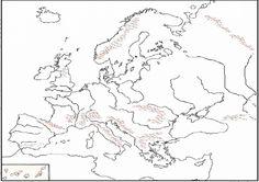 mapa europa fisico mudo para imprimir - Buscar con Google