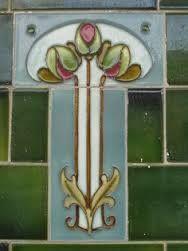 Art Nouveau Shop Front Tile of a Rose Bouquet This beautiful stylised Art Nouveau rose bouquet tile appears on a shop front along Lygon Street in the Melbourne suburb of West Brunswick. Motifs Art Nouveau, Azulejos Art Nouveau, Art Nouveau Flowers, Art Nouveau Pattern, Art Nouveau Tiles, Art Nouveau Design, Antique Tiles, Vintage Tile, Grand Art