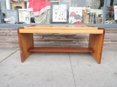 Mid Century Modern Vintage Coffee Table in a Light Walnut and Maple Los Angeles by HouseCandyLA, $125.00