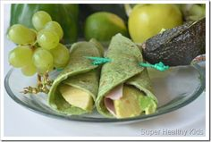 1 Spinach Wrap 2 TBL Mozzarella cheese, shredded 1 Avocado, sliced Melt the cheese on the wrap. Place avocado down the center of the wrap, and roll up! Healthy Meals For Kids, Kids Meals, Healthy Snacks, Healthy Eating, Healthy Recipes, Good Food, Yummy Food, Fun Food, Vegan Nachos