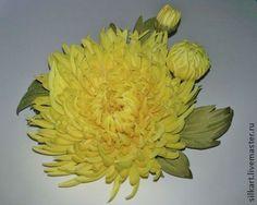"""Брошь """"Солнечное лето"""" - жёлтый,астра,астра из шелка,цветы из ткани,цветы из шелка"""
