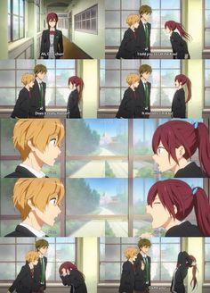 Anime/manga: Free! Iwatobi Swim Club! Characters: Gou, Nagi(sa), and Mako(to)