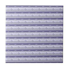 Lavender Stripes Ceramic Tile  $14.95 Made by Zazzle Home