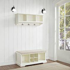 Crosley 2 Piece Brennan Entryway Bench & Shelf Set - Mahogany : Target
