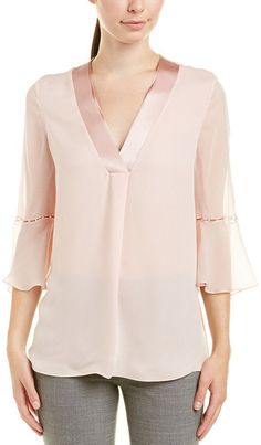 Elie Tahari Rose Bell-sleeve Blouse In Bubbles Blouse And Skirt, Blouse Outfit, Blouse Designs Silk, Elie Tahari, Online Dress Shopping, Look Fashion, Fashion Prints, Dress To Impress, Tunic Tops