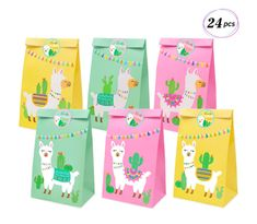 24 Llama Party Favor Bags Llama Cactus Gift Bags Mexico Fiesta Cinco de Mayo Goodie Treat Bags Themed Baby Shower Birthday Party Supplies Llama Party Favor Bags Llama Cactus Gift Bags Mexico Fiesta Cinco de Mayo Goodie Treat Bags Themed Baby S. Birthday Party Games For Kids, 1st Birthday Parties, Party Favor Bags, Gift Bags, Goodie Bags, Cactus Gifts, Llama Gifts, Llama Birthday, Fiesta Party