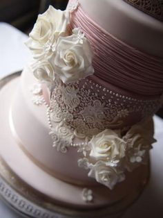 See more about lace wedding cakes, wedding cakes and pink cakes.